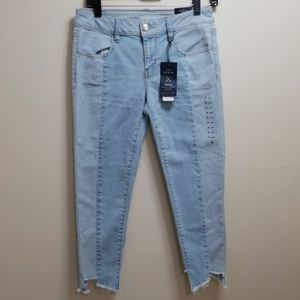 American Eagle Icy Blue Crop Jeggings-6 short